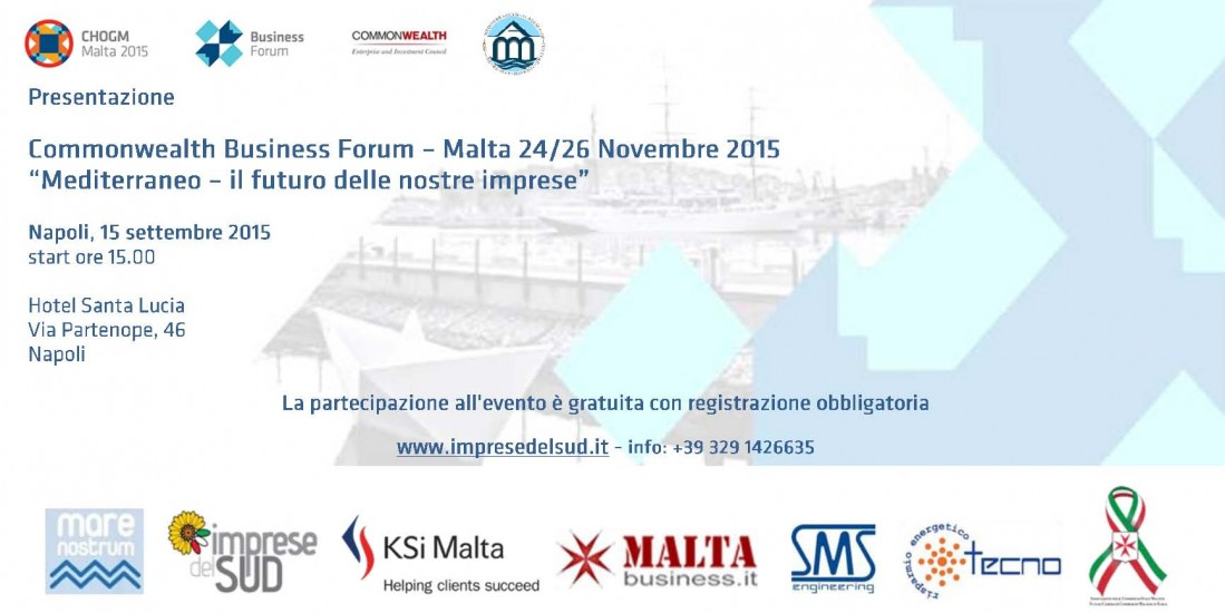 Commonwealth Business Forum 2015 di Malta