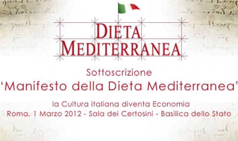 FOOD – Manifesto Dieta Mediterranea è realtà. Autorevoli i Fondatori