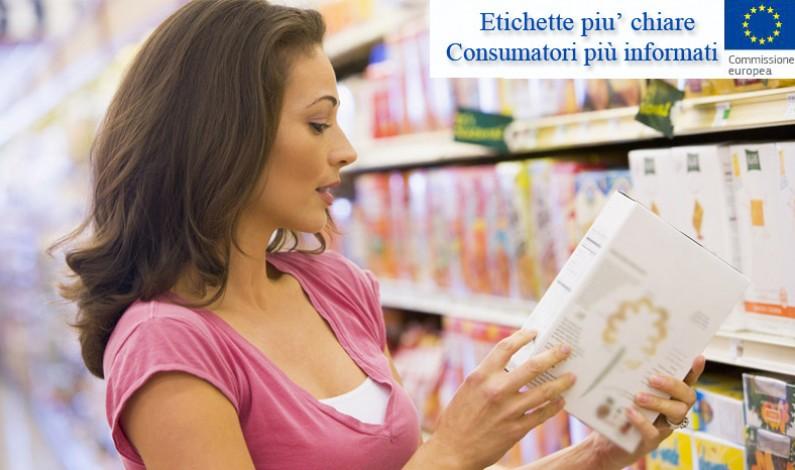 Norme UE: etichette più chiare, consumatori più informati