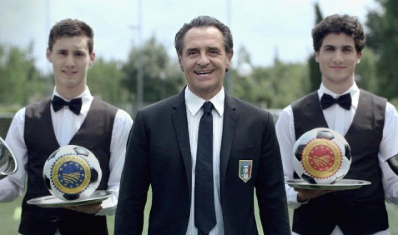 """Parte la campagna """"#iomangioitaliano"""" con il ct Prandelli e la nazionale di calcio"""