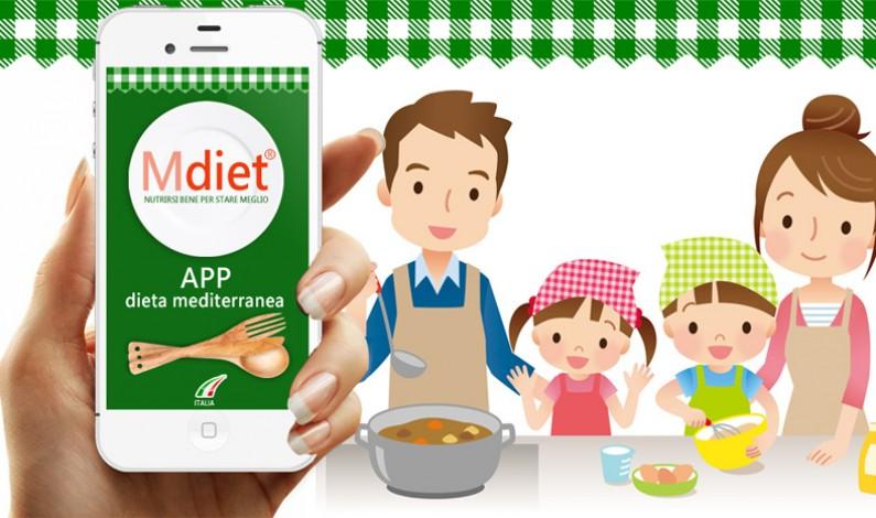 """APP della Dieta Mediterranea: si chiama """"Mdiet"""" e porta a Tavola il cibo sano."""