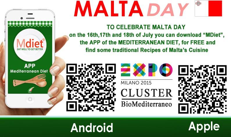 Italia festeggia il MaltaDay. Dal Cluster Bio Mediterraneo in dono MDiet al mondo della Rete