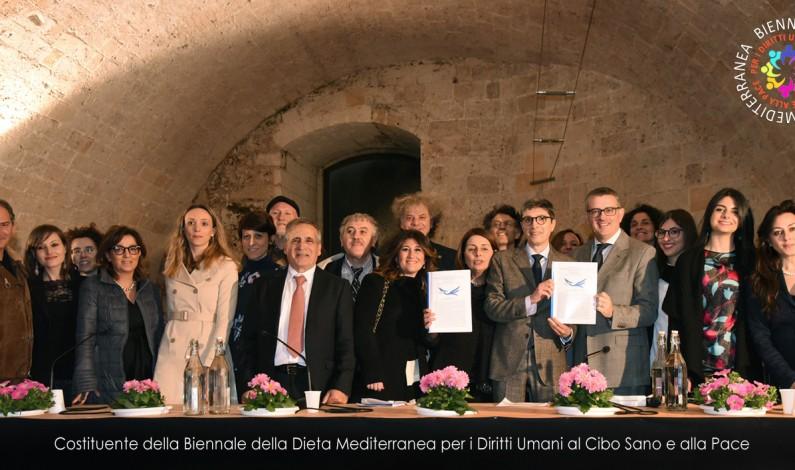 La Dieta Mediterranea e i Diritti Umani al Cibo Sano hanno la loro Biennale. Sottoscritta la Costituente